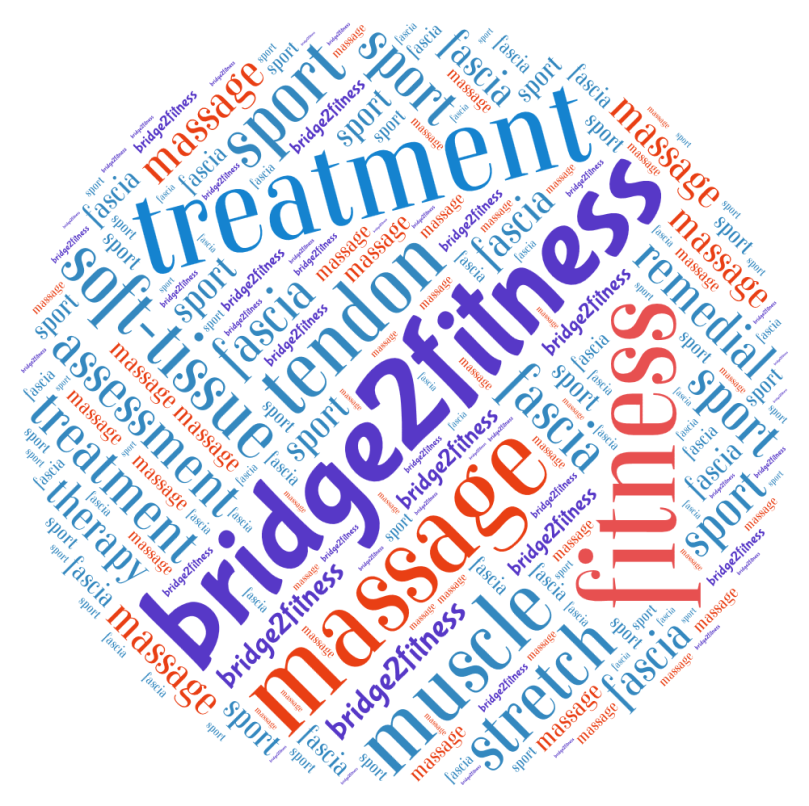 Bridge to fitness word cloud